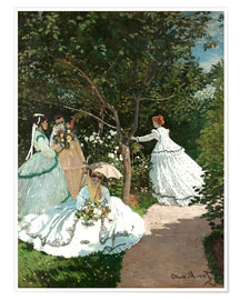 Premium poster  Women in the Garden - Claude Monet