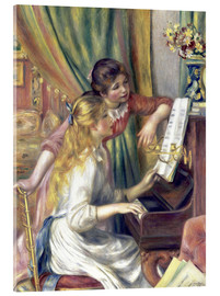 Acrylic print  Two girls at the piano - Pierre-Auguste Renoir