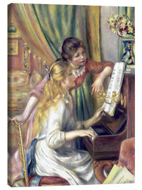 Canvas  Two girls at the piano - Pierre-Auguste Renoir