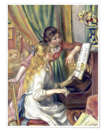 Premium poster  Two girls at the piano - Pierre-Auguste Renoir