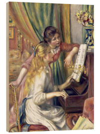 Wood print  Two girls at the piano - Pierre-Auguste Renoir