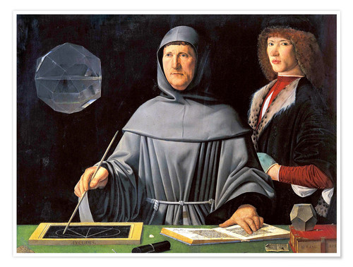 Poster Fra Luca Pacioli with student