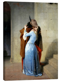 Canvas  The kiss - Francesco Hayez