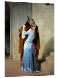 Foam board print  The kiss - Francesco Hayez