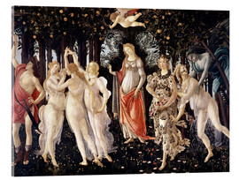 Acrylic glass  The Spring - Sandro Botticelli