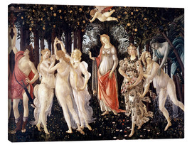 Canvas print  The Spring - Sandro Botticelli