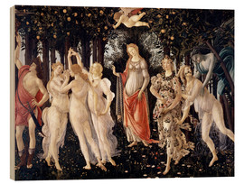 Wood print  The Spring - Sandro Botticelli