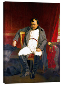 Canvas print  Napoleon after his abdication - Hippolyte Delaroche
