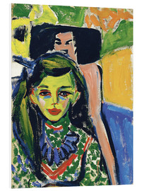 Forex  Fränzi in front of carved chair - Ernst Ludwig Kirchner