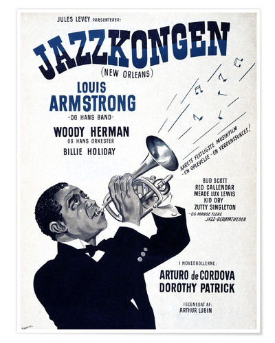 Premium poster Louis Armstrong New Orleans