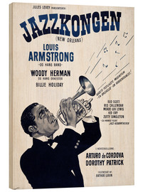Wood print  Louis Armstrong New Orleans