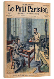 Wood print  Pierre and Marie Curie