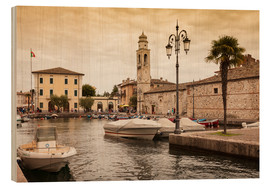 Wood print  Lazise, Lake Garda - Jan Schuler