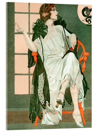 Acrylic print  Lady writing - Clarence Coles Phillips