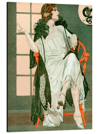 Alu-Dibond  Lady writing - Clarence Coles Phillips