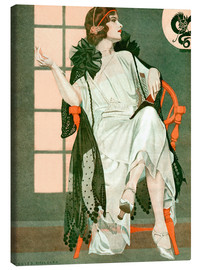 Canvas print  Lady writing - Clarence Coles Phillips
