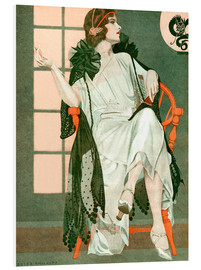 Foam board print  Lady writing - Clarence Coles Phillips