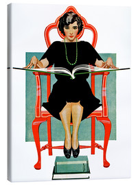 Canvas print  reading Nancy - Clarence Coles Phillips