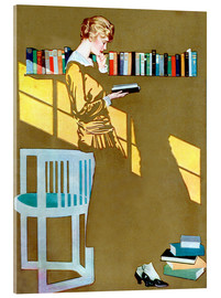 Acrylic glass  Read before the Bookshelf - Clarence Coles Phillips