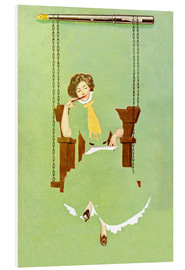 Foam board print  Woman writes with a pen - Clarence Coles Phillips