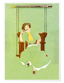 Premium poster  Woman writes with a pen - Clarence Coles Phillips