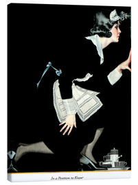 Canvas print  in a position to know - Clarence Coles Phillips