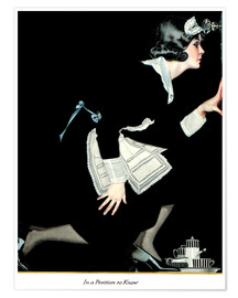 Poster  in a position to know - Clarence Coles Phillips