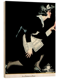 Wood print  in a position to know - Clarence Coles Phillips