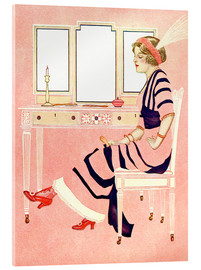 Acrylic glass  fit and fine valentine - Clarence Coles Phillips