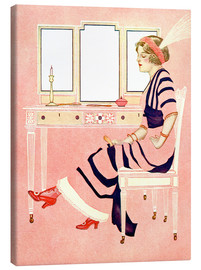 Canvas print  fit and fine valentine - Clarence Coles Phillips