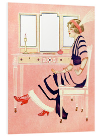 Foam board print  fit and fine valentine - Clarence Coles Phillips