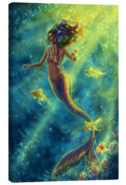 Canvas print  Rainbow Mermaid - Forbidden Desire - Tiffany Toland-Scott