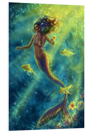 Foam board print  Rainbow Mermaid - Forbidden Desire - Tiffany Toland-Scott
