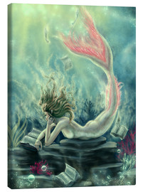 Canvas print  Reading Mermaid - Lost Books - Tiffany Toland-Scott