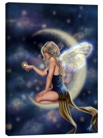 Canvas  Moon Fairy - Firefly Moon - Tiffany Toland-Scott