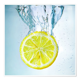 Premium poster lemon splash
