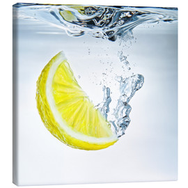 Canvas print  lemon splash - Silvio Schoisswohl