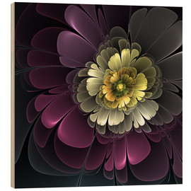 Wood print  Fractal Floral Beauty - gabiw Art