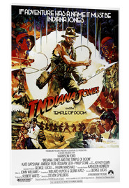 Acrylic print  Indiana Jones and the temple of doom