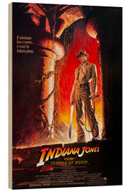 Wood print  Indiana Jones and the Temple of Doom