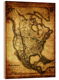 Wood print  Northamerica America USA 1849 - Michaels Antike Weltkarten