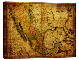 Canvas print  Mexico 1847 - Michaels Antike Weltkarten