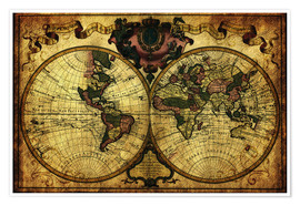 Michaels Antike Weltkarten - World 1720