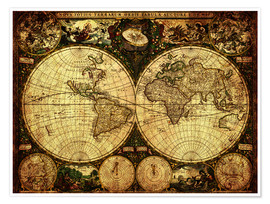 Michaels Antike Weltkarten - World 1660