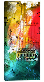 Canvas print  Guitar colorful collage - Michael artefacti