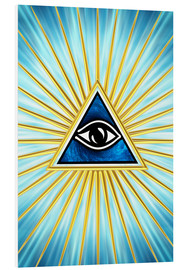 Foam board print  All Seeing Eye Of God, Symbol Omniscience - Lava Lova