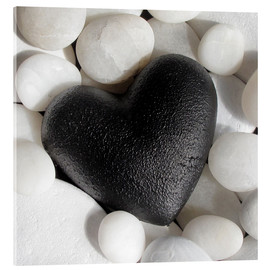 Acrylic glass  Black Heart - Andrea Haase Foto
