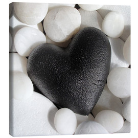 Canvas print  Black Heart - Andrea Haase Foto