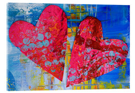 Acrylic glass  Colorful Love - Andrea Haase