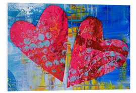 Foam board print  Colorful Love - Andrea Haase